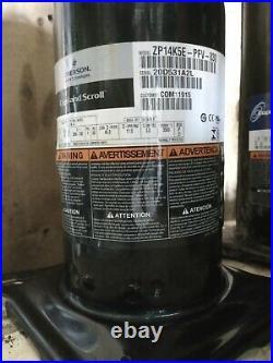 1 1/2 Ton, ZP14K5E-PFV-830, 410A, 220V, AC Compressor Copeland Scroll
