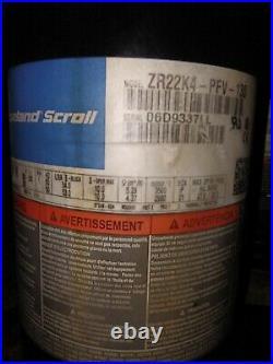 2 Ton, ZR22K4-PFV-130, R22, 220V, 1 Phase AC Compressor Copeland Scroll