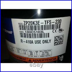 Copeland Zp20k3e-tf5-230 1-1/2 Ton High Temp Ac/hp Scroll Compressor 200-230/20
