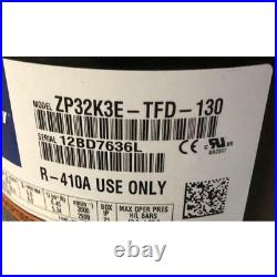 Copeland Zp32k3e-tfd-130 2-1/2 Ton Ac/hp Scroll Compressor 380-420-460v 3-phase