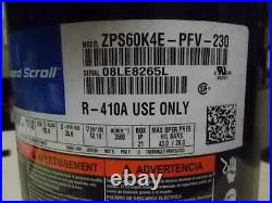 Copeland Zps60k4e-pfv-230/4825130 5 Ton Ac/hp 2-stage Scroll Compressor R-410a