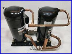EMERSON Copeland ZRT216KCE-TFD-975 460v 3ph 20ton Tandem Scroll Compressor