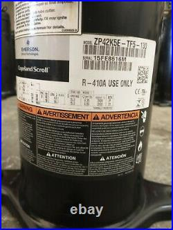 ZP42K5E-TF5-130, (3 Phase Commercial use) 3 1/2 Ton, R410A, 220V scroll